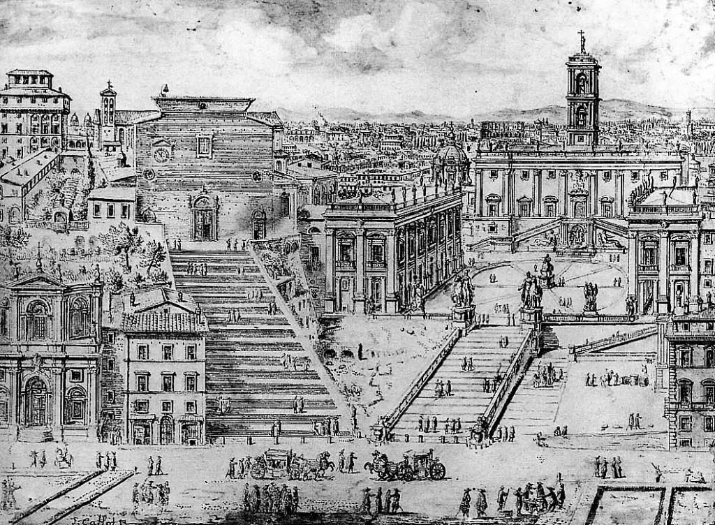 Вид на Капитолий в Риме. Ливен Круу