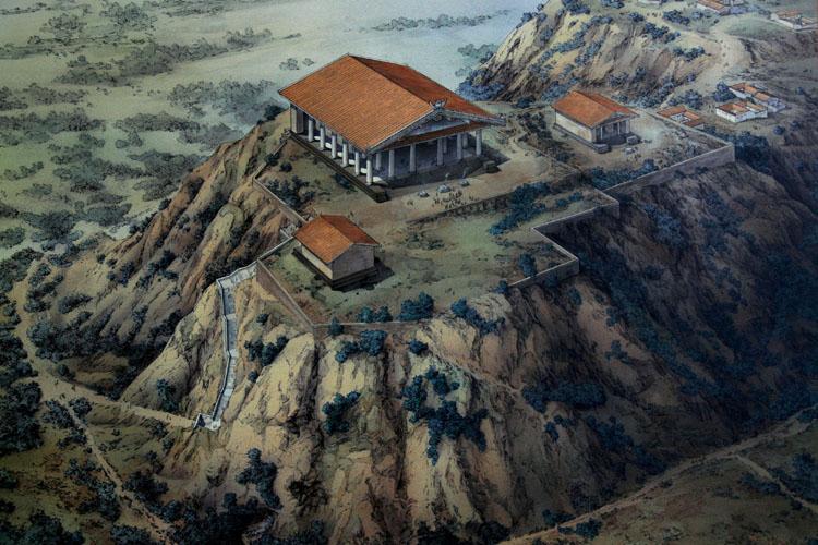 Капитолийский холм. 6 в. до н. э.
