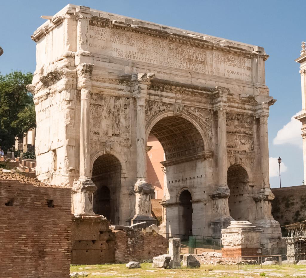 арка септимия севера римский форум