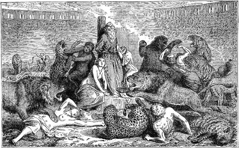 казнь преступников в Колизее