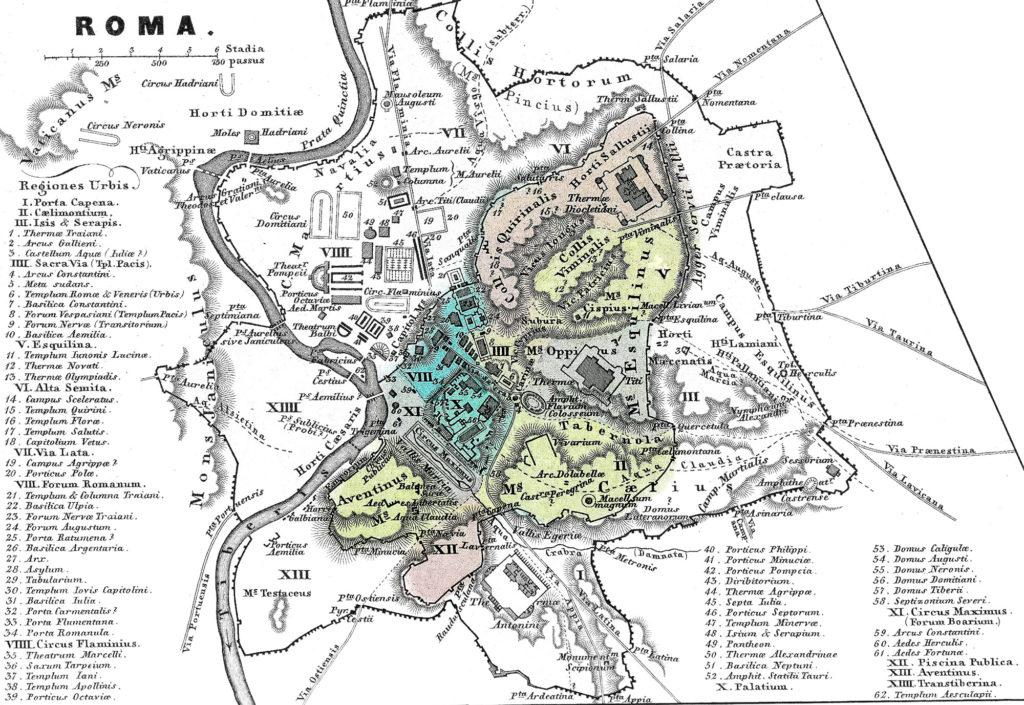 Город Рим. Схематический план.