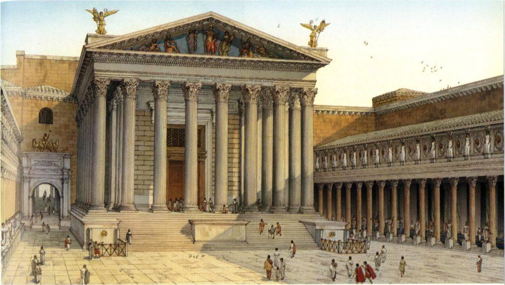 Форум Августа. Храм Марса Мстителя. Реконструкция