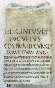 лукулл надпись
