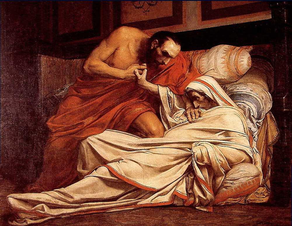 Смерть Тиберия. Жан-Поль Лоренс. 1864