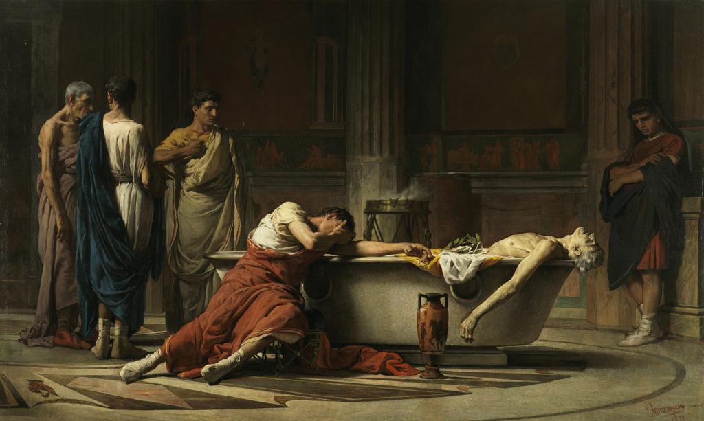 Мануэль Санчес. Смерть Сенеки. 1871