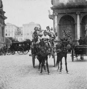 Фонтан Моисея (Аква-Феличе) на площади Сан-Бернардо 1890