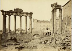 вид на храм сатурна 1880