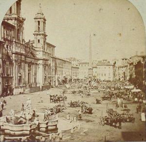 Пьяцца Навона. 1869