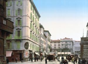 уличная сцена 1890
