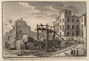 Обелиск, привезенный в Рим из Египта императором Августом, обнаруженный под руинами в 1748 году и расположенный во дворе Палаццо делла Виньячча