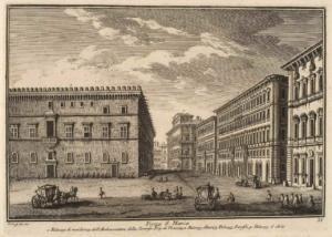 Площадь Сан Марко. Резиденция представителя Венецианской Республики (1), Дворец Альтиери (2), Дворец Памфили (3), Дворец д'Асте (4)
