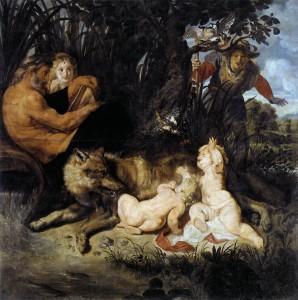 Ромул и Рем с волчицей. Рубенс. 1616