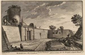 Ворота Порта Пертуза. Дороги Виа Аврелиа и Виа Корнелиа. Купол Ватиканского Собора (1)